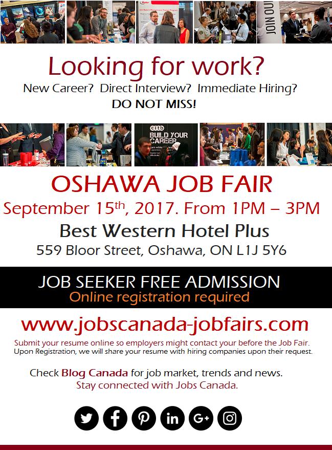 FREE: Oshawa Job Fair – Friday, September 15th, 2017 Logo